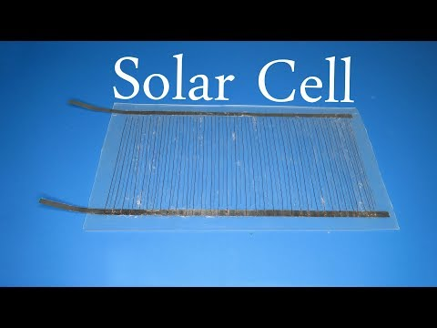 How to make solar cell very easy , Free energy with solar en