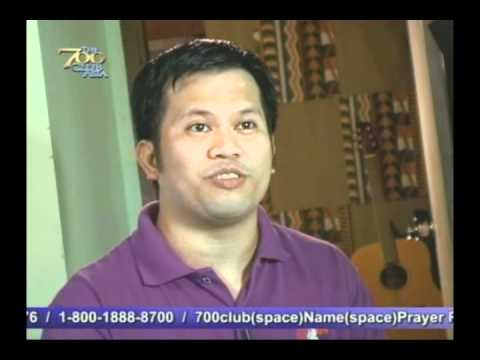 Danny Estioco's Testimony featured at The 700 Club ASIA