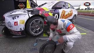 Larko Drops Brake Rotor On His Foot - Sandown 2018