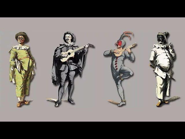Средневековые музыканты.