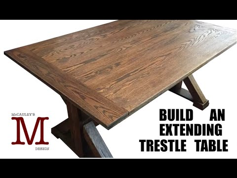 Building An Extending Trestle Table 015 YouTube