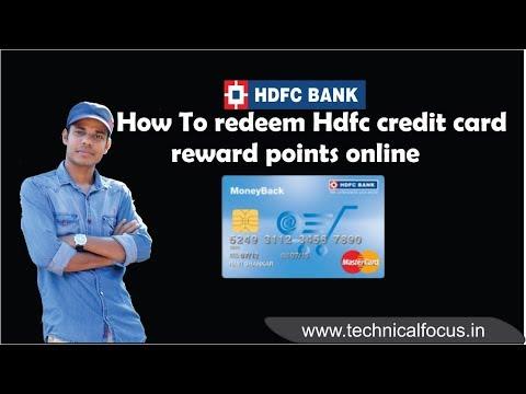 How To  Redeem Hdfc credit Card Reward Points Online