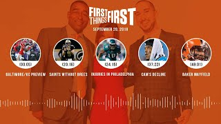 First Things First audio podcast (9.20.19)Cris Carter, Nick Wright, Jenna Wolfe | FIRST THINGS FIRST