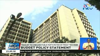 Treasury to conclude public participation on 2019 budget policy statement
