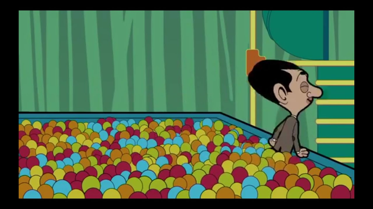 Mr bean animated series ball pool youtube Mr bean swimming pool video download