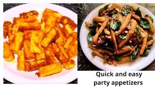 2 Easy Party Snacks Recipe/Party appetizer/ Veg starter / evening snacks / Snacks  recipe in Kannada
