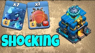 7 Electro Dragon 6 Max Balloon & Siege Machine = Electro Shock TH12 | New Attack TH12 Clash Of Clans