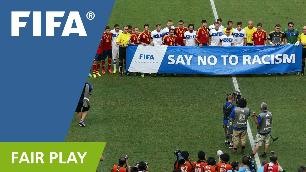 Image result for FIFA say no to racism