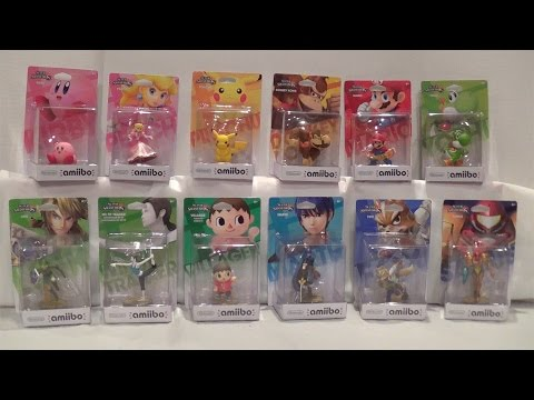 Amiibo Super Smash Bros. Wave 1 Unboxing/Review