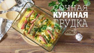 Сочные куриные грудки с ветчиной и сыром (Рецепты от Easy Cook)