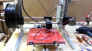 FolgerTech 2020 I3 3D Printer And Laser Engraver On The Bench