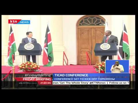President Uhuru Kenyatta receives Japan Prime Minister Shinzo Abe ahead of the TICAD 6 Conference