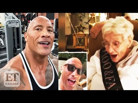 Tony Sandoval on The Breeze - Dwayne 'The Rock' Johnson Serenades 100-Year-Old Fan on Her Birthday