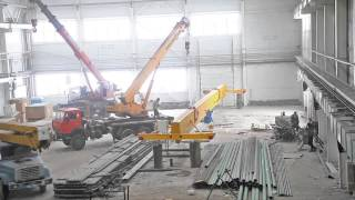 видео Изготовление и монтаж мостового двухбалочного опорного крана 10 тонн