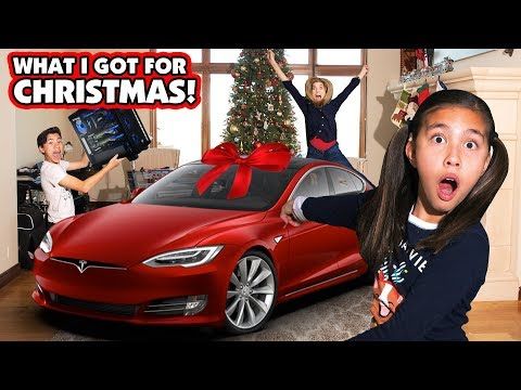 I GOT A TESLA FOR CHRISTMAS Jillian Gets a New Car Ultimate Gaming PC for Evan