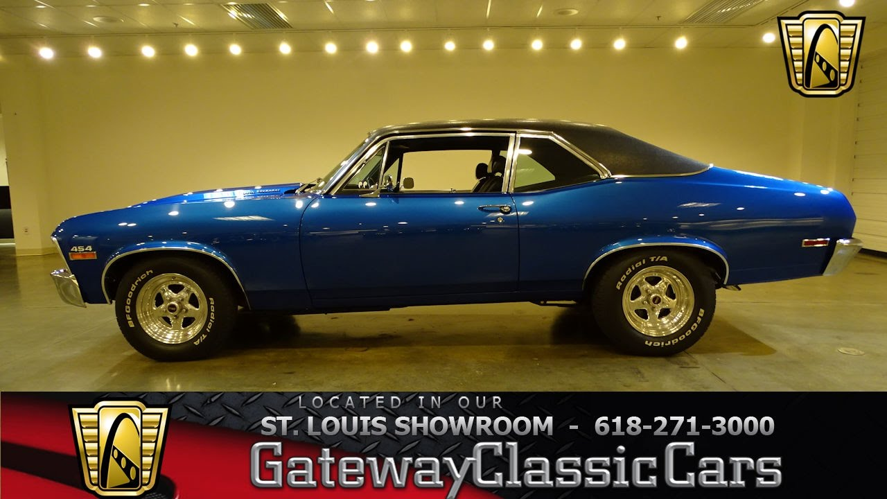 1971 chevrolet nova stock 7154 gateway classic cars st louis showroom youtube. Black Bedroom Furniture Sets. Home Design Ideas