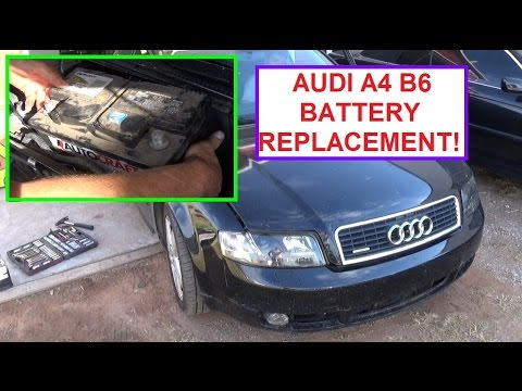 battery replacement on audi a4 b6 how to remove and. Black Bedroom Furniture Sets. Home Design Ideas