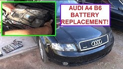 Battery Replacement on Audi A4 B6 .How to remove and replace the Battery AUDI A4 B6