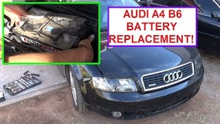 battery replacement on audi a4 b6 how to remove and replace the battery audi a4 b6
