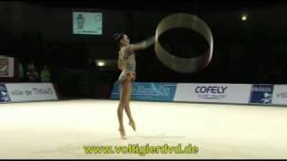 Rhythmic Gymnastics Grand-Prix Thiais 2011 Apparatus Finals Hoop More videos and DVDs at http://www.voltigierdvd.de Ulyana TROFIMOVA UZB 27250 (5)
