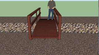 14 foot by 4 foot wooden bridge designed on sketchup.