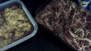 Finished Dinner Mexican Beef Rice And Cheese Bake And Spaghetti With Ground Beef & Smoked Sausage