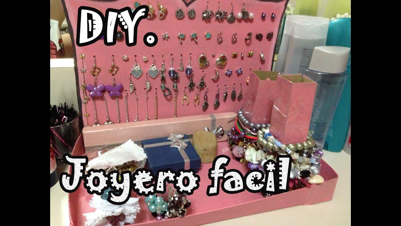 DIY Joyero Fácil , Organiza pulseras aretes anillos , Make your jewelry  easy , YouTube