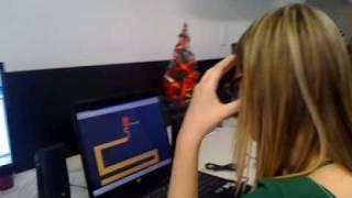 Amanda - susto no jogo do Labirinto