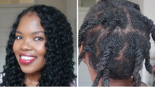 Undoing crochet braids and detangling 4c natural hair | South African Blogger | ByLungi