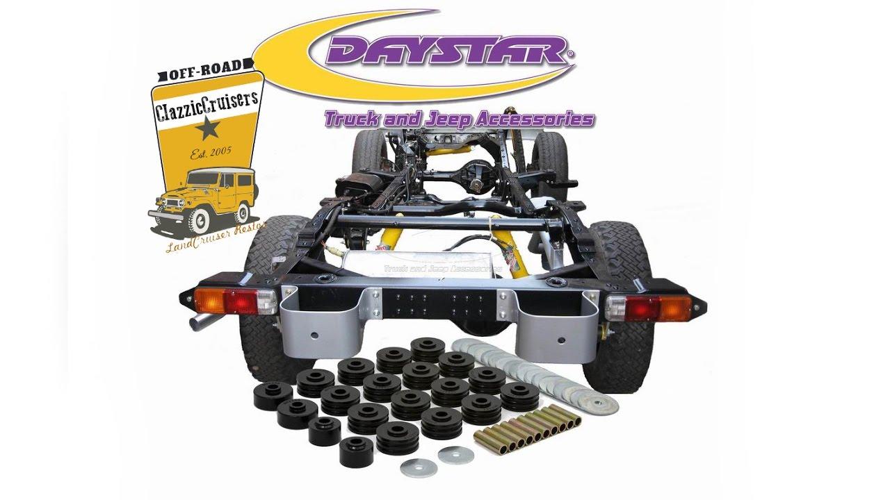 Daystar Polyurethane Body Mount Kit For The Toyota
