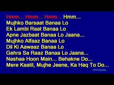 Mujhko Barsaat Banaa Lo - Armaan Malik Hindi Full Karaoke With Lyrics