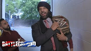 WWE Champion Jinder Mahal exudes confidence as he arrives at WWE Battleground: July 23, 2017