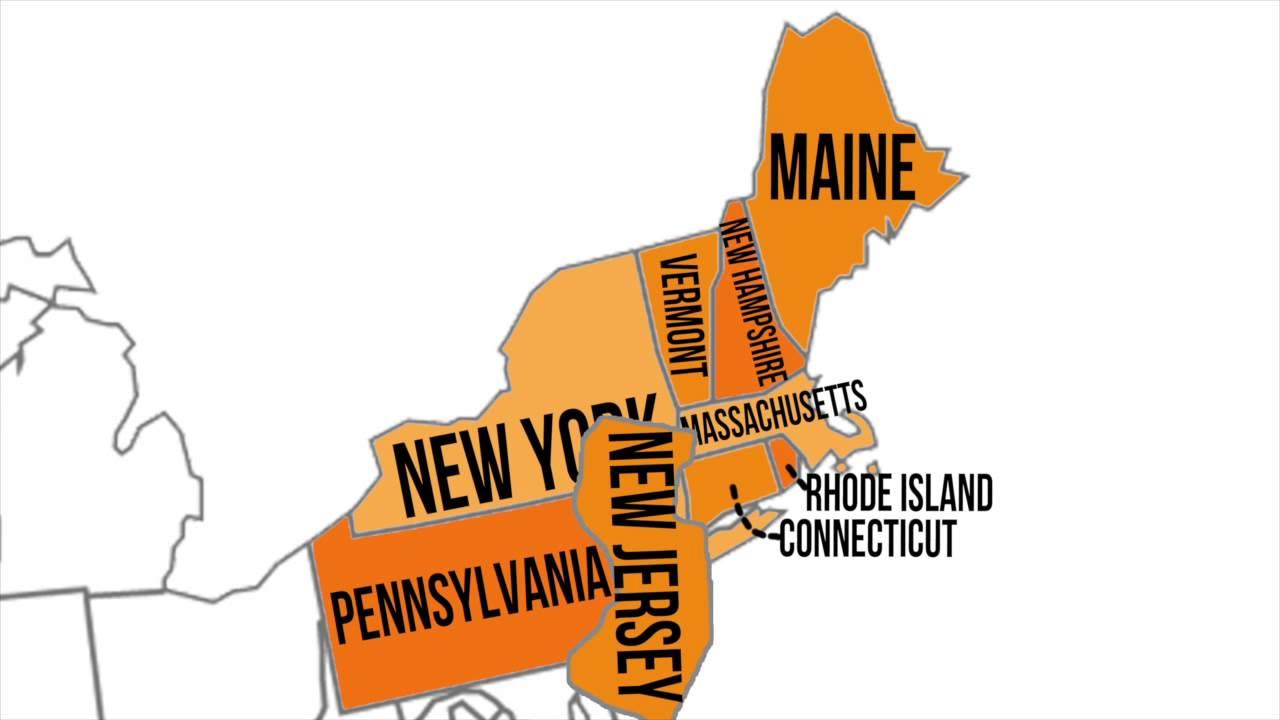 100 Northeast States And Capitals Quiz | Amazon Com States ...