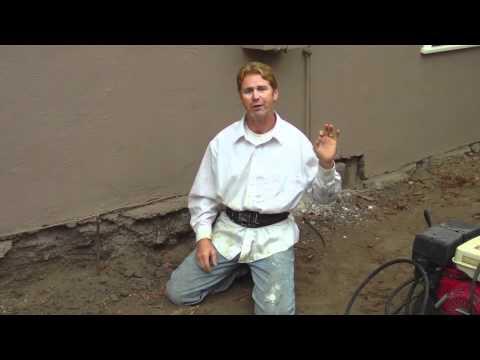 Plaster Stucco Over Foundation Bricks Cinder Block Or Concrete Foundation