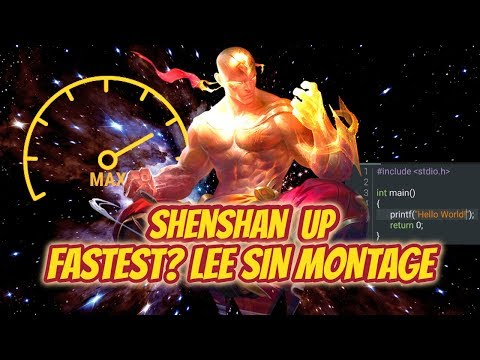 ULTIMATE CHINESE LEE SIN MONTAGE - FASTEST LEE SIN PLAYER - League Of Legends