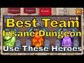 Best Team for Insane Dungeon 8 Castle Clash