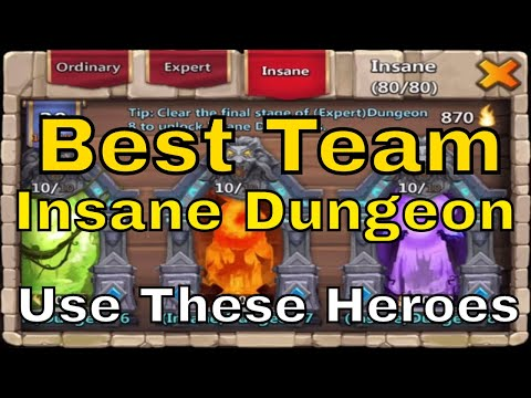 Best Team For Insane Dungeon 8 Castle Clash