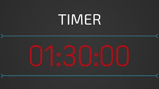 ⌛ 90 min: Timer online 1h30 (contagem regressiva) com alarme