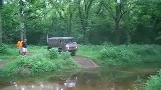 Pinzgauer crossing muddy water
