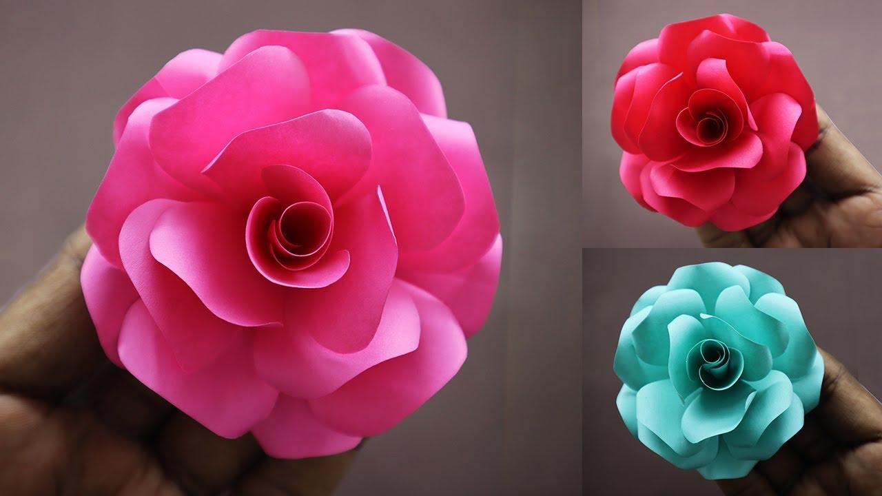 DIY - Rose Flower From Paper | Origami Rose | Paper Roses | Paper Flower