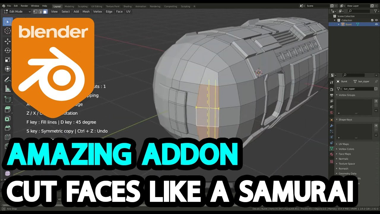 Cut Faces Like Never Before with This Addon l Face Cutter