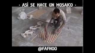 Así es cómo se hacen los mosaicos pieza por pieza(artesanias)