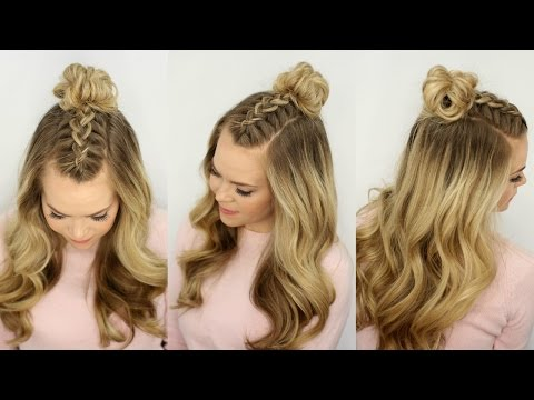 Mohawk Braid Top Knot | Half Up Hairstyle