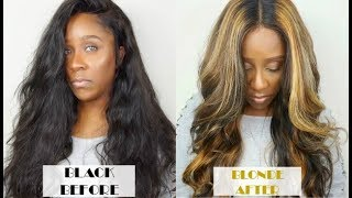 HOW TO BLACK HAIR TO BLONDE HAIR HIGHLIGHTS TUTORIAL | WEST KISS HAIR