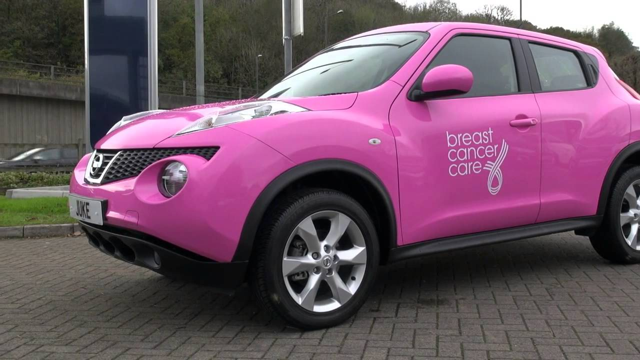 Nissan Juke Wrapped In Pink In Support Of Breast Cancer
