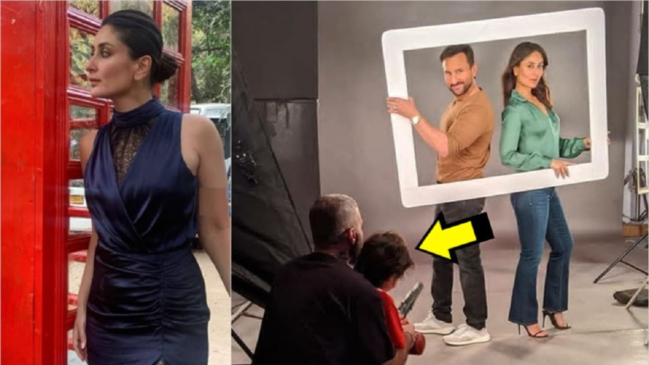 Kareena Kapoor Latest Photoshoot With Saif Ali Khan & Taimur Ali Khan