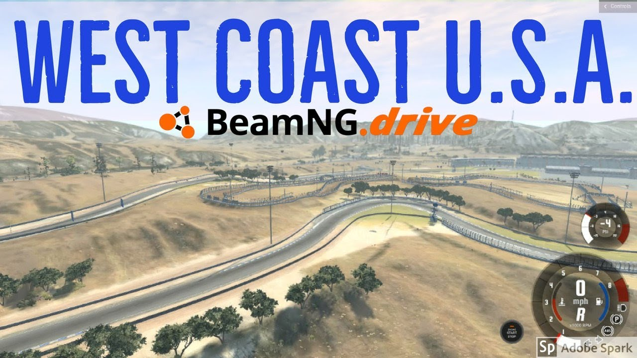 BeamNG.drive - WEST COAST USA map is here! - YouTube