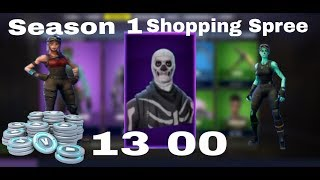 Fortnite *OG* Shopping Spree!! (Season 1) 20.00 V bucks Spree!| WOLF X