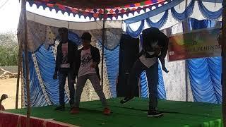 Telugu mix chiru(DJ,Fasak,Bildapbabai,folk) Dance performance in village boys...