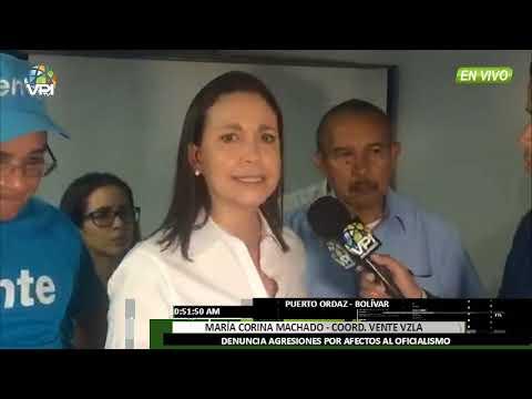 """Venezuela - Maria Corina Machado """"El Gobierno tiene miedo y recurre a la violencia"""" - VPItv"""